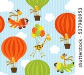 seamless pattern with giraffe... | Shutterstock .eps vector #537980953
