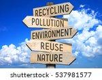 wooden signpost   environment... | Shutterstock . vector #537981577