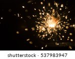 magic glowing flow of sparks in ... | Shutterstock . vector #537983947