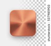 bronze blank app icon ... | Shutterstock .eps vector #537985903