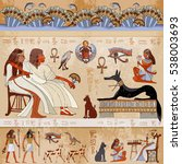 Ancient Egypt Scene. Egyptian...