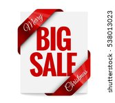big christmas sale. label ... | Shutterstock .eps vector #538013023