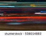 night city light trails red ... | Shutterstock . vector #538014883