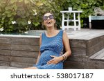 happy pregnancy and maternity... | Shutterstock . vector #538017187