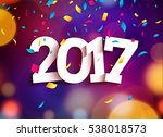 happy new year 2017 background... | Shutterstock . vector #538018573