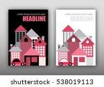two modern houses vector... | Shutterstock .eps vector #538019113