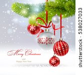 christmas background with a... | Shutterstock .eps vector #538027033