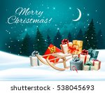 holiday christmas greeting card ... | Shutterstock .eps vector #538045693