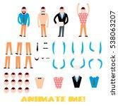 businessman character creation... | Shutterstock .eps vector #538063207
