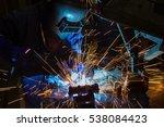 worker is welding  automotive...   Shutterstock . vector #538084423