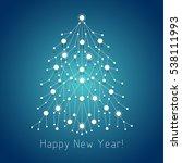white fir tree made of...   Shutterstock .eps vector #538111993