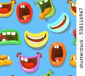 cute monsters mouths vector... | Shutterstock .eps vector #538116967