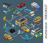 auto repair infographics... | Shutterstock . vector #538128127