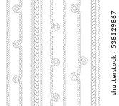 vector outline ropes patterns... | Shutterstock .eps vector #538129867