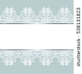 white lace borders with ribbon...