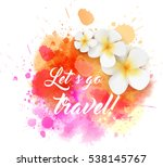 abstract travel background with ... | Shutterstock .eps vector #538145767
