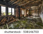 Devastated Room In An Abandone...