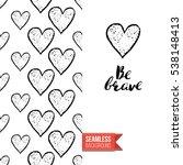 monochrome greeting card.... | Shutterstock .eps vector #538148413