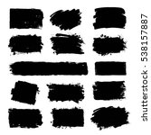 set of black paint  ink brush... | Shutterstock .eps vector #538157887