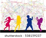 children silhouette. abstract... | Shutterstock .eps vector #538159237