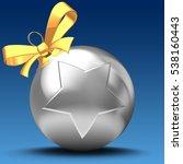 3d illustration of silver... | Shutterstock . vector #538160443