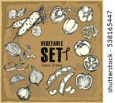 hand drawn vegetables set....