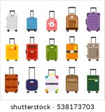 various travel luggage bag... | Shutterstock .eps vector #538173703
