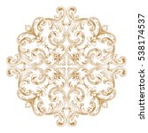 gold vintage baroque ornament... | Shutterstock .eps vector #538174537
