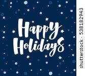 Navy Blue Happy Holidays...
