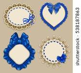 set of elegant templates ornate ... | Shutterstock .eps vector #538187863