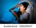 Woman Using Smarphone Working...