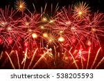 Beautiful Red Fireworks In The...