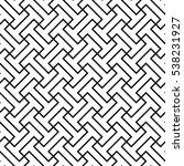 interlocking shapes pattern... | Shutterstock .eps vector #538231927