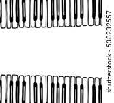 piano keys sketch. hand drawn....   Shutterstock .eps vector #538232557