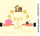buy to let concept design.... | Shutterstock .eps vector #538235473