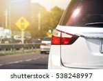 cars on the road heading... | Shutterstock . vector #538248997