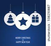 beautiful decorative christmas... | Shutterstock .eps vector #538250887
