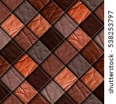 leather patchwork background 3d ...   Shutterstock . vector #538253797