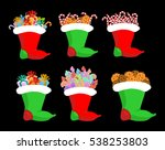 christmas stocking with gifts... | Shutterstock .eps vector #538253803