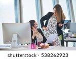 businesswomen having informal...   Shutterstock . vector #538262923