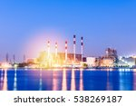 industrial power plant with... | Shutterstock . vector #538269187