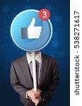 smart businessman holding round ... | Shutterstock . vector #538271617