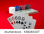 a pair poker hand isolated on... | Shutterstock . vector #538283107