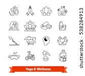 yoga workout   wellness program.... | Shutterstock .eps vector #538284913