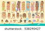 vector set. summer vacation.... | Shutterstock .eps vector #538290427