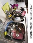 dirty dishes in the sink  in... | Shutterstock . vector #538310167