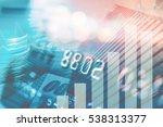 double exposure of city  credit ... | Shutterstock . vector #538313377