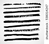 grunge brush strokes .grunge... | Shutterstock .eps vector #538314247