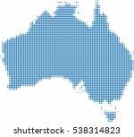 blue circle shape australia map ...   Shutterstock .eps vector #538314823