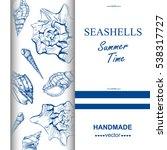 seashell  sea shell  nature sea ...   Shutterstock .eps vector #538317727